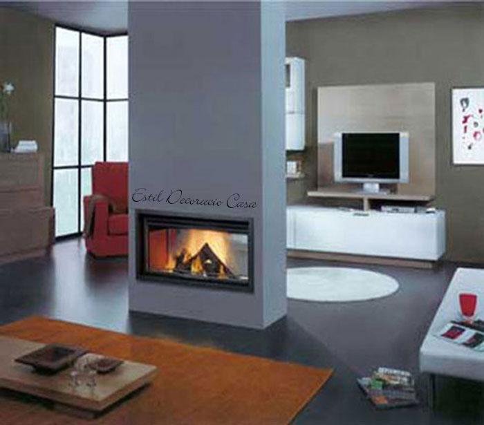 un insert doubles faces pour b n ficier de deux chemin es en une avec une parfaite vue du feu. Black Bedroom Furniture Sets. Home Design Ideas