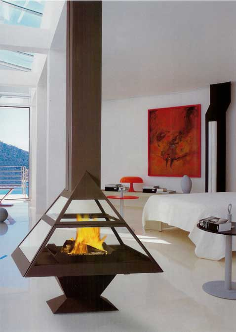 chemin e m tallique bois centrale et chemin e pour le. Black Bedroom Furniture Sets. Home Design Ideas