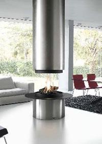 cheminée axiale gaz