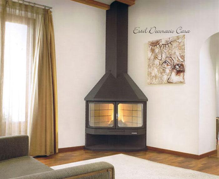 Chemin e gaz pour installer dans un angle et profiter d - Installer un insert dans une cheminee ...