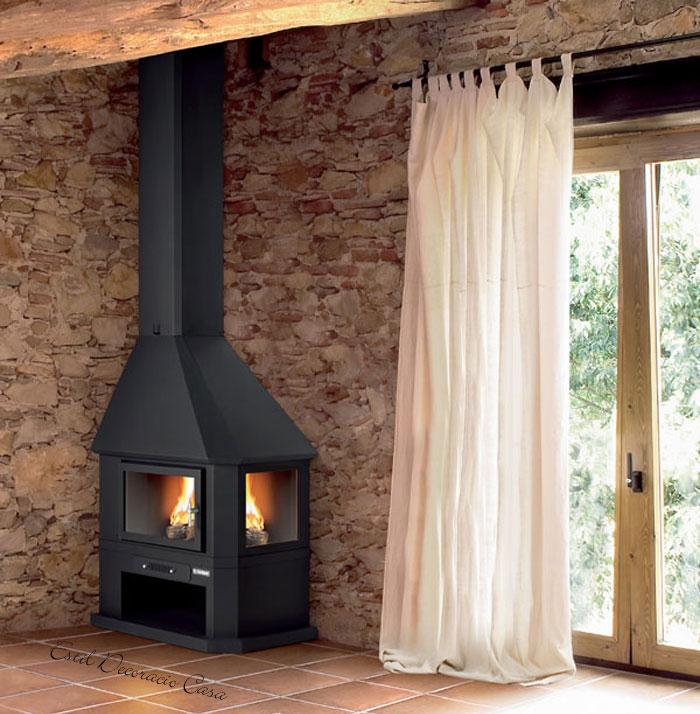chemin e gaz pour angle avec une mise en valeur de la. Black Bedroom Furniture Sets. Home Design Ideas