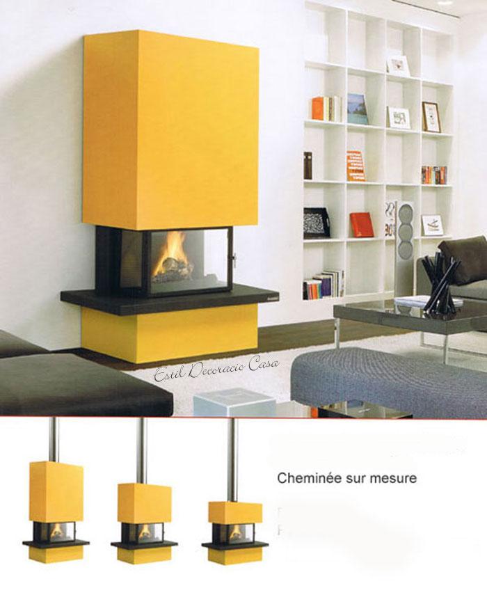 cheminée à gaz de face Vinci G