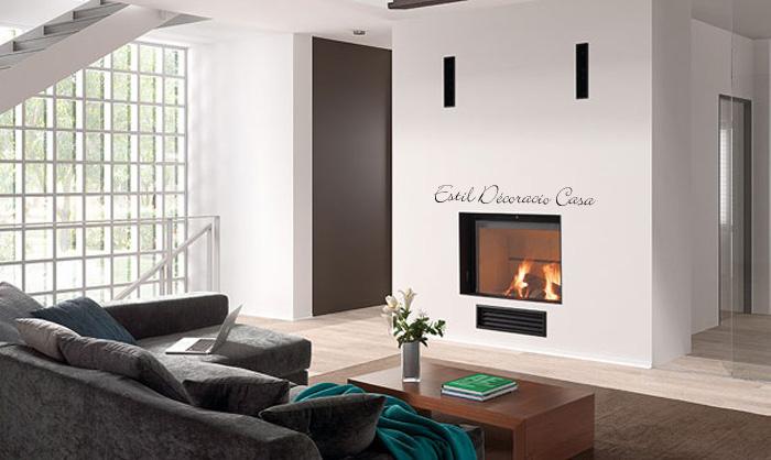 insert de face ou frontale avec large foyer porte coulissante ou guillotine. Black Bedroom Furniture Sets. Home Design Ideas